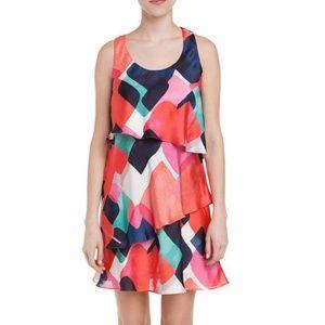 Shoshanna Tiered Geometric Dress sz 8